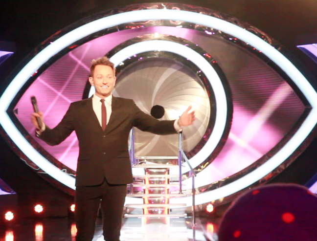 Mike Goldman on stage Big Brother 2012